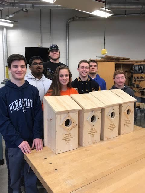 UHS Tech Ed creates Beautiful Owl Boxes for Local Preserve