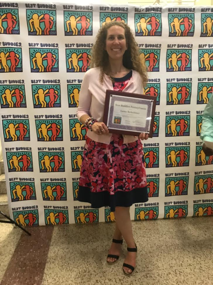 "Laura Berkeihiser - ""Best Buddies Advisor of the Year""!"